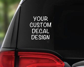 Custom Design Car Decal. Personalised Rear Window Sticker. Funny Car Sign. Waterproof Decal. Subaru, Nissan, Ford, Truck, Lorry, Horse Box