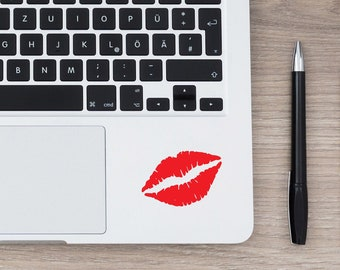 Lips Kiss Mark Laptop or MacBook Decal // Sassy Women Decals // Birthday or Christmas Gift // Laptop Macbook Tablet Phone Sticker