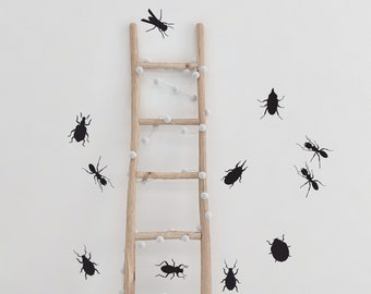12 Bug Wall Decals for Nursery or Bedroom. Playroom Decor. Boys Room Girls Room. Halloween Stickers, Creepy Crawlies, Peel and Stick Insects