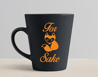 Mug Decal // For Fox Sake // Customise Your Mug // Decal Only // Mug Sticker Transfer // Coffee Cup // Tea Cup // Water Bottle // Gift Idea
