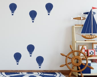 Hot Air Balloon Decals for the Nursery // Home Decor // Bedroom Decor // Boys Room Girls Room // Sky Themed Room // Playroom Wall Decals