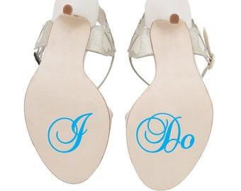 I Do Wedding Shoe Stickers // Wedding Heel Decals // Bride or Groom // Something Blue // Wedding Day Transfer Accessory // Swirl Style