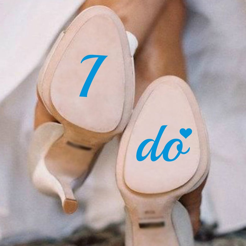 I do Me too Wedding Shoe Decals for the Brides   Grooms.  db5cf4f3023d