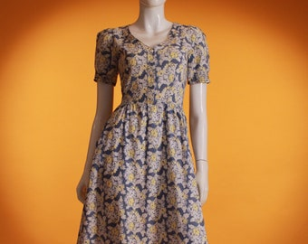 5361c59d2f3e Vintage 1970 s  Laura Ashley made in Carno Wales  Floral Blue