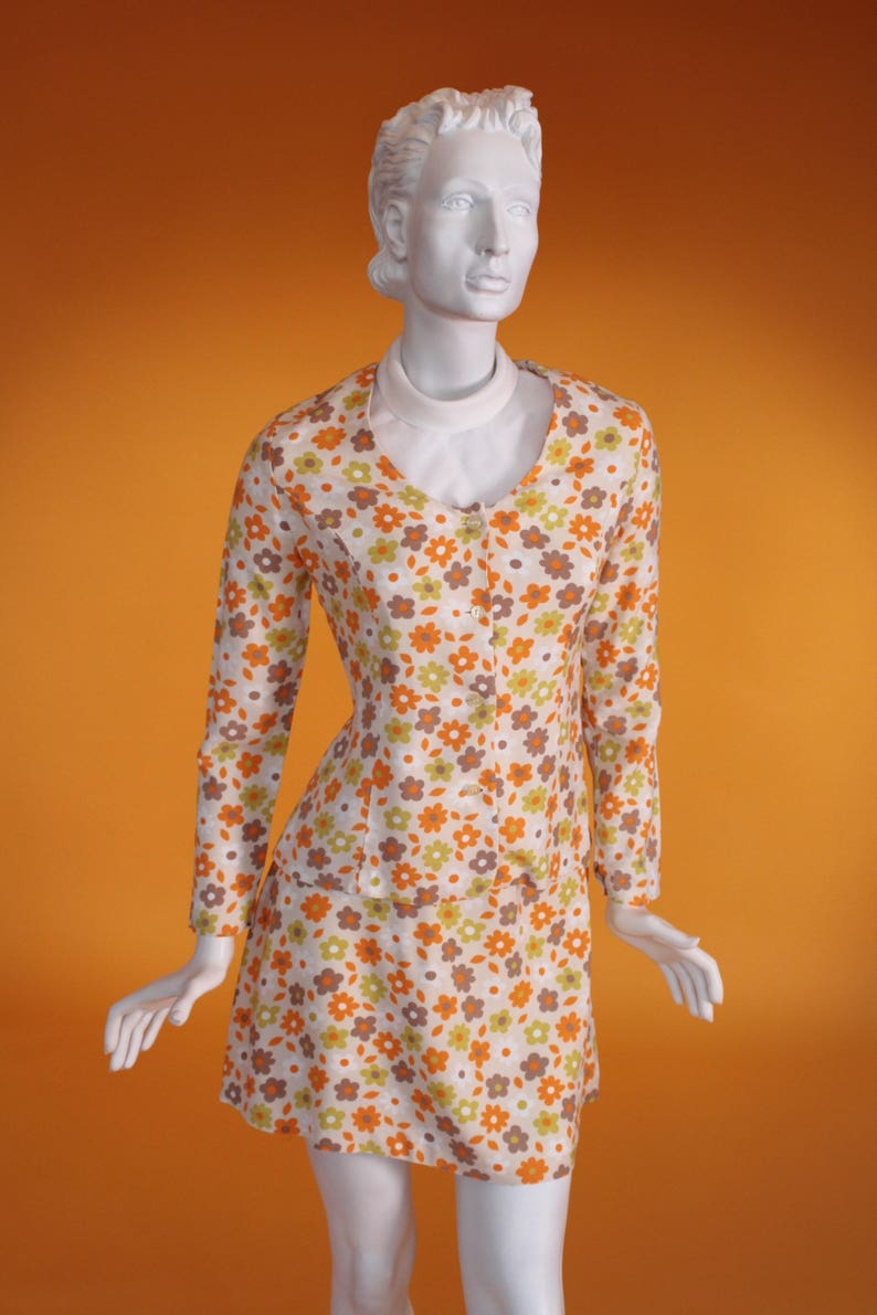 562a24b482 Vintage 1960 s Early  Biba  Style Orange and Green