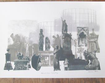 Kensal Green Cemtery Giclee Print