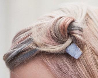 Druzy Quartz Hair Pin - Boho Bobby Pin - Featured on Etsy Finds - Editor Picks - Bridal Party & Wedding Hair Pins
