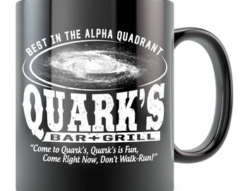 573322ea557 Trekkie Mug - Quark's Bar Mug - Ceramic Coffee Mug Black/White 11oz 15oz -  Funny Trek Mug