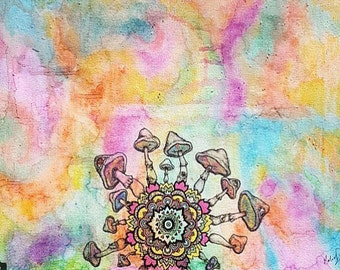 colored mandala (print)