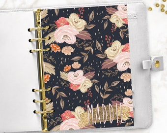 dfd0b614e0c Fall Floral Custom Name Thanksgiving Halloween Planner Dashboard    Pocket