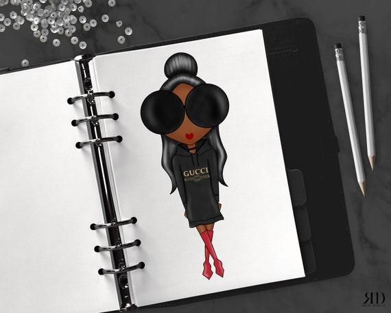 e7b9e56f1fb Gucci afro-américaine cheveux noirs planificateur personnalisé