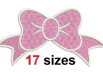 Girl Bow Embroidery Design Bow Embroidery Design Fill Design Machine Embroidery Instant Download ER1012F