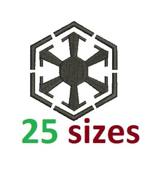 Star Wars Sith Empire Logo Symbols Embroidery Design Fill Etsy