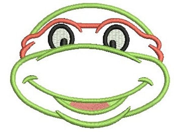 Teenage Mutant Ninja Turtles Applique Embroidery Design Tmnt Etsy
