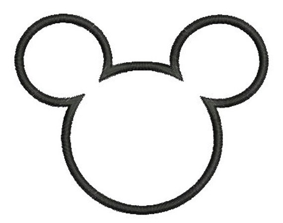 Mickey mouse applique design t te de mickey applique - Dessin tete de minnie ...