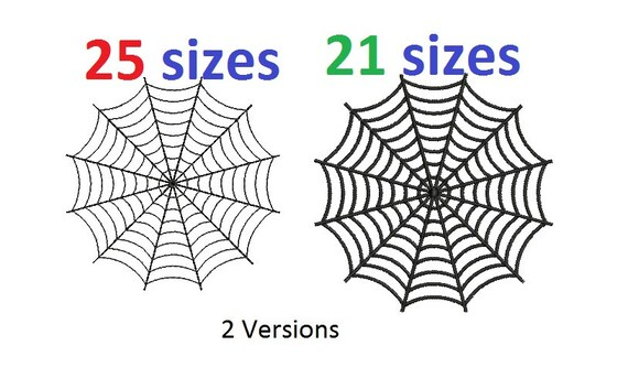 Spider Web Embroidery Design Spiderweb Halloween Machine Etsy