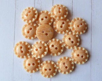Set of 8 buttons for sewing / scrapbooking / light ORANGE