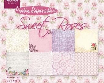 32 paper 15 x 15 cm Marianne Design SWEET ROSES