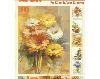 Paper sheets 3D decoupage, collage, card making the flowers and the wine 640