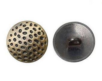 6 buttons round bronze 1.9 cm POINTS