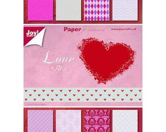 LOVE block of 32 paper 15 x 21 cm JOY CRAFTS