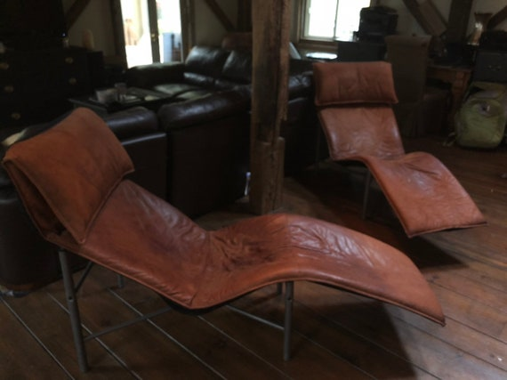 Pleasant Two Skye Leather Lounge Chairs By Tord Bjorklund For Ikea Andrewgaddart Wooden Chair Designs For Living Room Andrewgaddartcom
