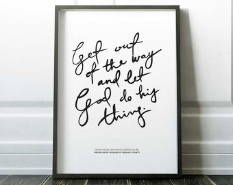 Collectible Print: Let God