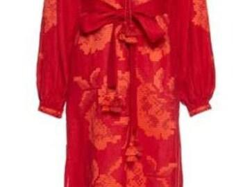 Ukrainian Dress,Dubai Kaftan,Vyshyvanka, Chicnationale,Boho,Embroidery,Linen Abaya, Embroidered Boho ,Linen Kaftan