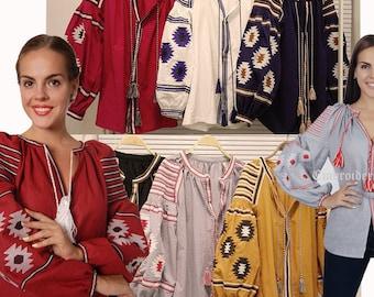Ukrainian Embroidered Blouse Mexican shirt Vyshyvanka  Fashion Boho Style Vyshyvanka Bohemian Broderie Mexicaine Ethnic Ukrainian Clothing