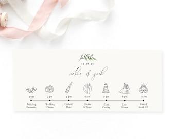 Wedding schedule | Etsy