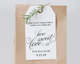 thank you tag template printable wedding thank you tags gift etsy