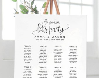 Wedding Seating Chart Template, Seating Chart Printable, Seating Board, Printable, Editable PDF, Instant Download, Rustic Wedding, #SPP013se