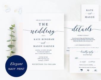 printable wedding invitation template wedding invitation set etsy