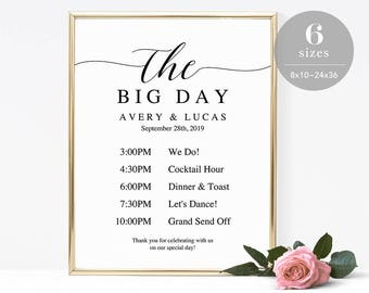 wedding program sign template printable wedding program etsy