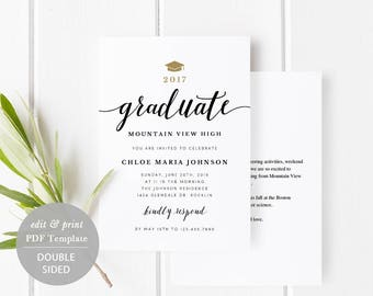 Grad party invite etsy graduation party invitation card template printable graduate celebration card grad party invitation editable pdf instant download spp331ga filmwisefo