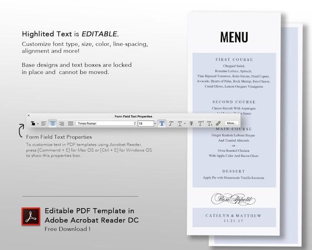 Menu Card Design Pdf