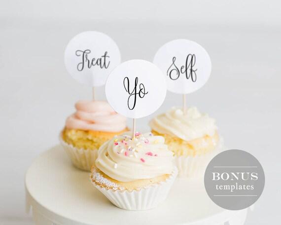 Treat Yo Self Gift Tag Template Printable Wedding Favor Tag Etsy