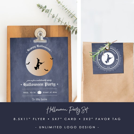Halloween Party Invitation Card Template Printable Event Flyer Template Spooky Costume Party Templett Jpeg Pdf Download Spp075bhw