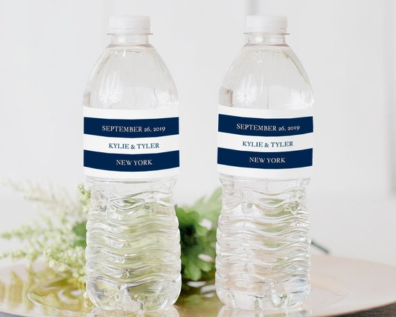 printable water bottle label water bottle label template etsy