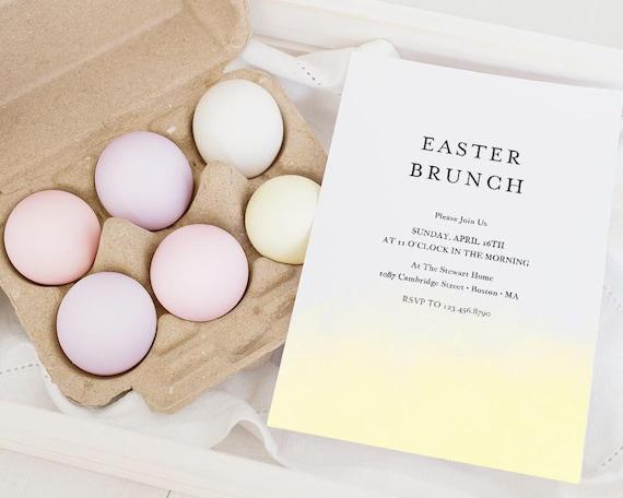 Easter Invitation Template Easter Egg Hunt Invitations   Etsy