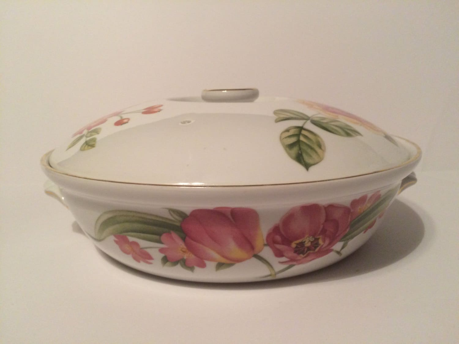 Vintage Floral Covered Casserole Dish By Pershore, Royal Worcester Fine  Porcelain 1976