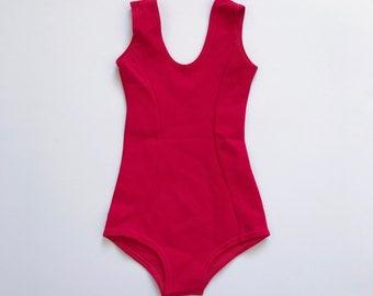 54e43a97150f Girls leotard childs leotard for gym gymnastics ballet dancing vintage  1970s red leotard