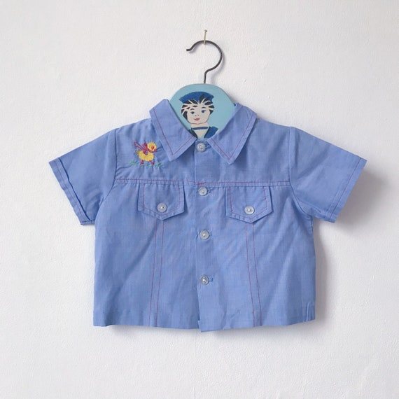 14b8270e9ff7 Vintage Mothercare baby boys top 6 12 months