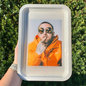 mac miller inspired art piece tray rolling tray