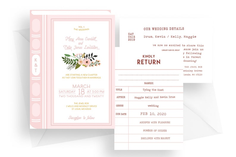 Printed book wedding invitation story book invitations image 0