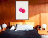Love Poster | Hearts | Love Sign | Love Prints | Girlfriend Gift  | Bedroom Decor | Home Decor | Girls Gift | Valentines Day Gift | LGBT