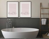 Breath in, Breath Out Print | Set of 2 Prints | Home Decor | Above Bed Prints | Yoga Art | Housewarming | Bedroom Decor | Mindfulness Print
