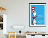 Dr Seuss Poster | Quote | Cartoon | Children Room | Wall Art | Wall Decor | Home Decor | Prints | Poster | Digital Paper | Digital Download