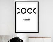 Coco Chanel Poster | Chanel Inspired | Chanel Logo | Fashion Wall Art | Girl Room Decor | Fashion Prints | Home Decor | Chanel Wall Art