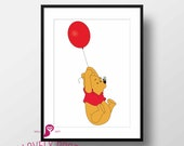 Winnie the Pooh Poster | Pooh Bear | Childrens Room  | Kids Decor | Nursery Decor | Playroom Decor | Wall Art | Digital Download | Kids Gift